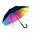Rainbow umbrella by Bruno Beach