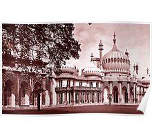 Royal Pavilion Brighton Red Duotone Poster