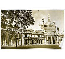 Royal Pavilion Brighton Yellow Duotone Poster