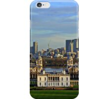 Greenwich Royal Naval Museum and Canary Wharf iPhone Case/Skin