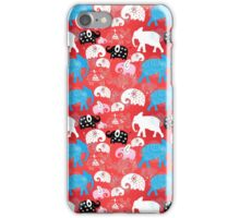 pattern of elephants in the clouds iPhone Case/Skin