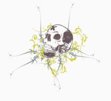 Art Flourish Skull Tee by humanwurm