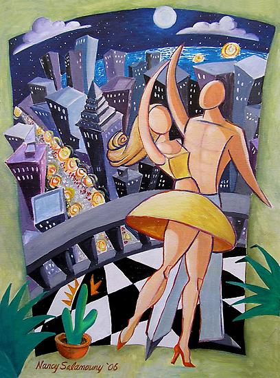 Moonlight Dance by nancy salamouny