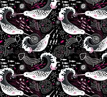 pattern narwhals by Tanor