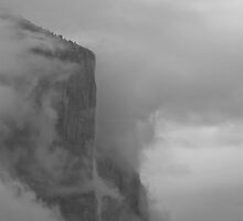 El Capitan Breaking Up The Clouds by photosbyflood