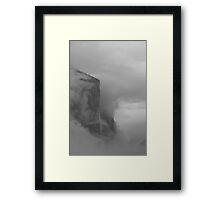 El Capitan Breaking Up The Clouds Framed Print