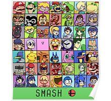 Super Smash Bros. 4 Roster Poster