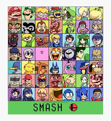 Super Smash Bros. 4 Roster Photographic Print