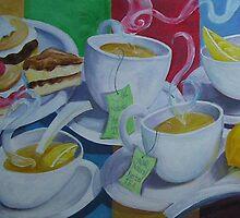 Tea Time Detail by nancy salamouny
