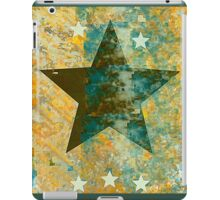 Rustic Star Design in Deep Blue and Orange Stone iPad Case/Skin