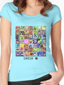 Super Smash Bros. 4 Roster Women's Fitted Scoop T-Shirt