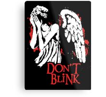 Doctor Who Don't Blink Metal Print