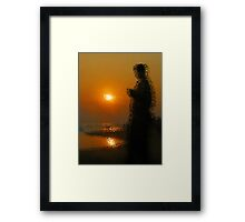 Sunset Through Windscreen Framed Print