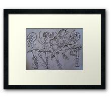 Dancing Ballerinas Framed Print
