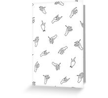 Harry Styles Iconic Hand Shirt #2 Greeting Card