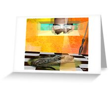 VIEW OF CROC Greeting Card