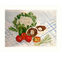 fruit and veg Art Print