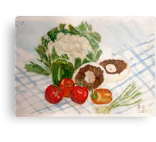 fruit and veg Metal Print