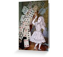 Alice In Wonderland/The Pack of Cards Greeting Card