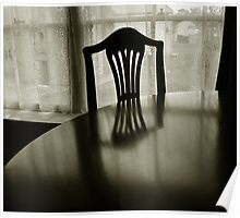 Table and chair Poster