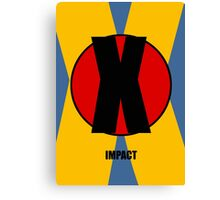 X-Men Impact Font Iconic Charactography - X Canvas Print