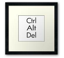 Ctrl Alt Del Framed Print