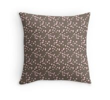 Cherry Blossoms (Brown ) Throw Pillow