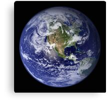 the earth seen from space Canvas Print