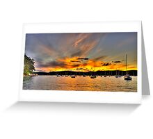 Nightfall - Clareville, NSW - The HDR Series Greeting Card