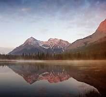 Sunrise At Whitegoat Lakes And Elliot Peak.2 by Alex Preiss