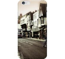 Vintage London Street With Bicycles iPhone Case/Skin