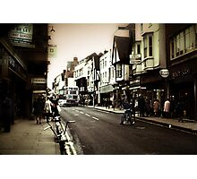 Vintage London Street With Bicycles Photographic Print