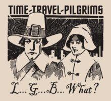 TIME-TRAVEL-PILGRIMS - SAY WHAT? T-Shirt