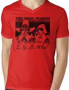 TIME-TRAVEL-PILGRIMS - SAY WHAT? Mens V-Neck T-Shirt