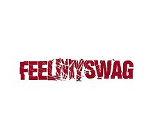 Feel my swag dope rap funny text cracked glass shatter by dopebubble