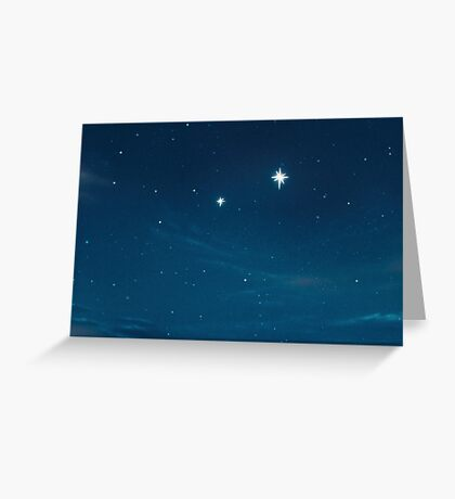 second star to the right Greeting Card