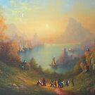 Lake Town (13 Dwarves and a Hobbit named Bilbo). by Joe Gilronan
