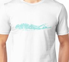 Long Island Blue and White Beach Print Unisex T-Shirt