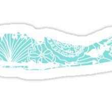 Long Island Blue and White Beach Print Sticker