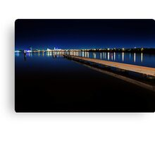 Jetty At Dusk  Canvas Print