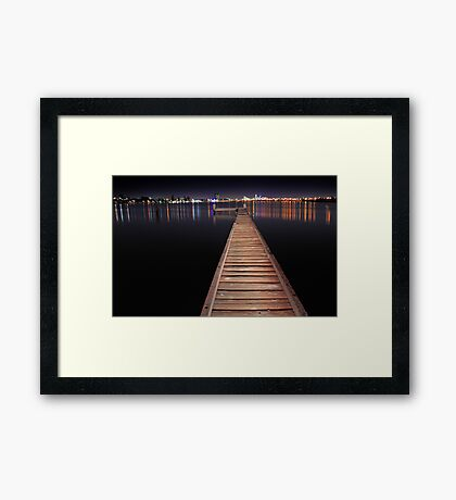 Jetty At Night  Framed Print