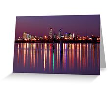 Perth City Reflections  Greeting Card