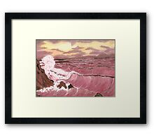 Sunset Seas Framed Print