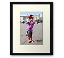 Young Chinese Girl on Tiananmen Square Framed Print