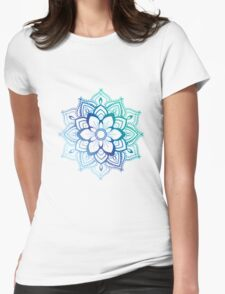 Blue Mandala Womens Fitted T-Shirt