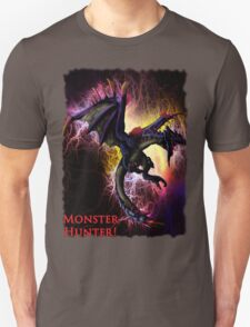 Flying Black Wyvern Monster Hunter Unisex T-Shirt