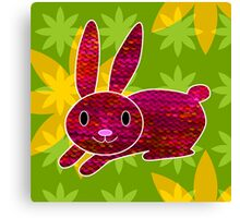 Knitty bunny Canvas Print