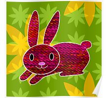 Knitty bunny Poster