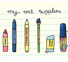 My Art Supplies by FunkySockzLover