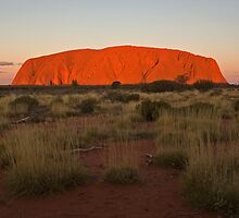Sunset on Uluru by Richard  Windeyer